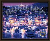 """Картина по номерам """"Ночная гавань"""" 40х50"""