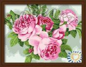 """Картина по номерам """"Розовое пышноцветье"""""""