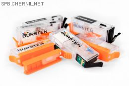Перезаправляемые картриджи Bursten Nano-2 для Canon Pixma MG7740, TS8040, TS9040  (PGI-470, CLI-471) x6 с авто-чипом