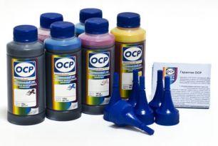 Чернила OCP для принтера Epson XP-600, XP-605, XP-610, XP-700, XP-800, XP-810 (BKP 115, BK 140, C 142, M 140, Y 140), картриджи T2601, T2611-T2614, комплект 100 гр. x 5