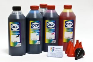 Чернила OCP для принтера и МФУ Canon MG5340, iP4940, iP3600 (BK35, BK124, C154, M144, Y144) Safe Set, комплект 1000 гр. x 5