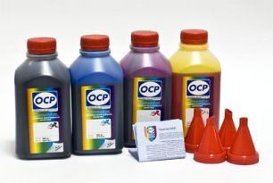 Чернила OCP для принтера и МФУ Canon MG2240, MG3240, MG3540, MG4240 (BKP44, C710, M710, Y710), картриджи PG-440, CL-441 комплект 500 гр. x 4
