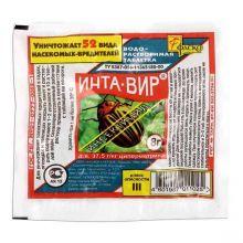 """""""Инта-вир"""" (инсектицидная водорастворимая таблетка) против жесткокрылых, равнокрылых, чешуекрылых и прочих вредителей."""