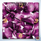 Часы картина по номерам Фиолетовое очарование