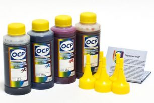 Чернила OCP для принтера HP OfficeJet Pro K550, K5300, L7380, L7580 (BKP249, C126, M126, Y126), картридж HP 88, комплект 100 гр. x 4