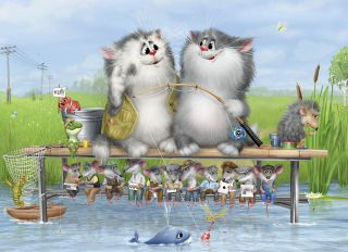 Postcard Fishing
