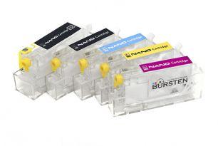 Перезаправляемые картриджи Bursten Nano-2 для Canon iP3600, iP4600, iP4700, MP540, MP550, MP560, MP620, MP630, MP640, MX860, MX870 (PGI-520, CLI-521) x5 с авто-чипами