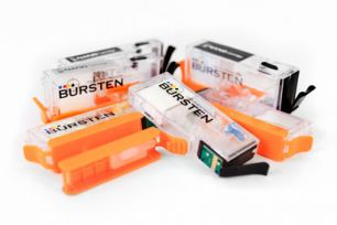 Перезаправляемые картриджи Bursten Nano-2 для Canon Pixma MG6340, MG7140, MG7540, IP8740  (PGI-450, CLI-451) x6 с авто-чипом