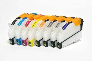 Перезаправляемые картриджи Bursten Nano 2 для Epson R800, R1800 (T054040- T054940) x 8 шт.