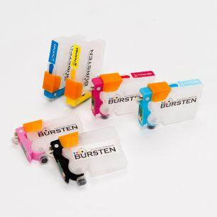 Перезаправляемые картриджи Bursten Nano 2 для Epson Stylus Photo P50, PX660, PX720WD, PX730WD, PX820FWD, PX830FWD (T0801 - T0806) x 6 шт.