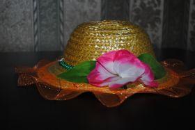Шляпа детская с цветком