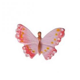 """Липучка """"Бабочка розовая"""" 8 штук"""