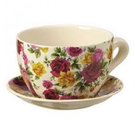 Горшок керамическое Цветы чашка №8 D19,5 H11
