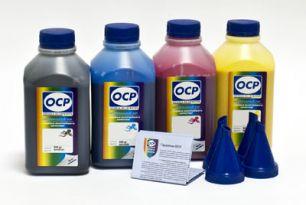Чернила OCP для принтера Epson L100, L200, L300, L1300 (светостойкие - BK 155, C 155, M 155, Y 155), комплект 500 гр. x 4