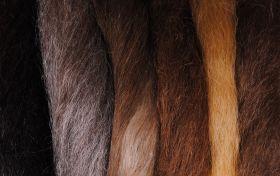 Волос буйвола крашеный, 100 гр.