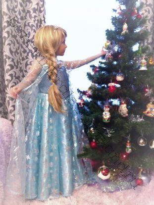Платье Эльзы новогоднее рост 120-125 см